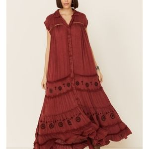 NWT Free People Pretty Cozy Maxi Dress
